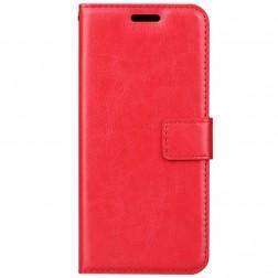 Atverčiamas dėklas, knygutė - raudonas (Galaxy A8 2018)
