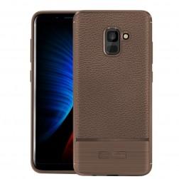 """""""Armor"""" kieto silikono (TPU) dėklas - rudas (Galaxy A8 2018)"""