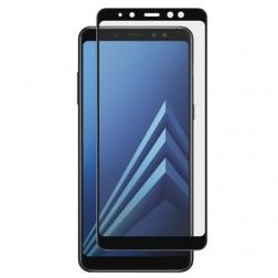 """""""Calans"""" Tempered Glass pilnai dengiantis apsauginis ekrano stiklas 0.2 mm - juodas (Galaxy A8 2018)"""