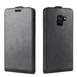 Vertikaliai atverčiamas dėklas - juodas (Galaxy A8 2018)