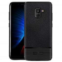 """""""Armor"""" kieto silikono (TPU) dėklas - juodas (Galaxy A8+ 2018)"""