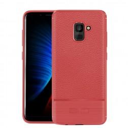 """""""Armor"""" kieto silikono (TPU) dėklas - raudonas (Galaxy A8+ 2018)"""