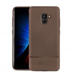 """""""Armor"""" kieto silikono (TPU) dėklas - rudas (Galaxy A8+ 2018)"""