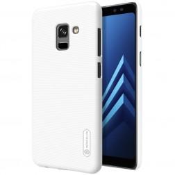"""""""Nillkin"""" Frosted Shield dėklas - baltas + apsauginė ekrano plėvelė (Galaxy A8+ 2018)"""