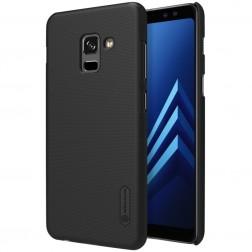 """""""Nillkin"""" Frosted Shield dėklas - juodas + apsauginė ekrano plėvelė (Galaxy A8+ 2018)"""