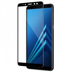 """""""Calans"""" Tempered Glass pilnai dengiantis apsauginis ekrano stiklas 0.2 mm - juodas (Galaxy A8+ 2018)"""