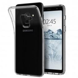 Kieto silikono (TPU) dėklas - skaidrus (Galaxy A8 2018)