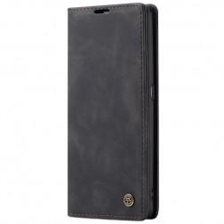 """""""CaseMe"""" Retro solidus atverčiamas dėklas - juodas (Galaxy A80)"""