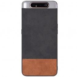 """Bi-Color"" Splicing dėklas - rudas / juodas (Galaxy A80)"