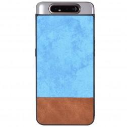 """""""Bi-Color"""" Splicing dėklas - rudas / mėlynas (Galaxy A80)"""