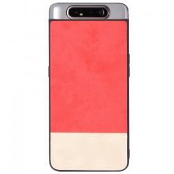 """""""Bi-Color"""" Splicing dėklas - smėlio spalvos / raudonas (Galaxy A80)"""