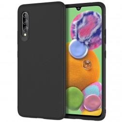 """""""Jazz"""" kieto silikono (TPU) dėklas - juodas (Galaxy A90 5G)"""
