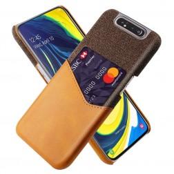 """""""KSQ"""" Shell dėklas su kišenėle - rudas (Galaxy A80)"""