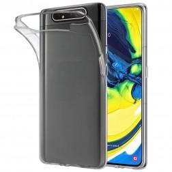 Kieto silikono (TPU) dėklas - skaidrus (Galaxy A80)