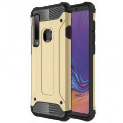 Sustiprintos apsaugos dėklas - auksinis (Galaxy A9 2018)