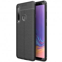 """""""FOCUS"""" kieto silikono (TPU) dėklas - juodas (Galaxy A9 2018)"""