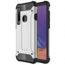 Sustiprintos apsaugos dėklas - sidabrinis (Galaxy A9 2018)