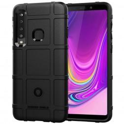 """""""Square"""" Grid kieto silikono (TPU) dėklas - juodas (Galaxy A9 2018)"""