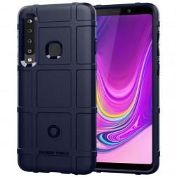 """Square"" Grid kieto silikono (TPU) dėklas - mėlynas (Galaxy A9 2018)"