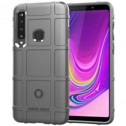 """""""Square"""" Grid kieto silikono (TPU) dėklas - pilkas (Galaxy A9 2018)"""