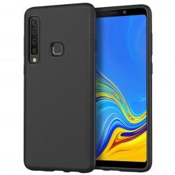 """""""Twill"""" kieto silikono (TPU) dėklas - juodas (Galaxy A9 2018)"""