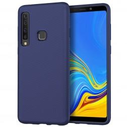 """Twill"" kieto silikono (TPU) dėklas - mėlynas (Galaxy A9 2018)"