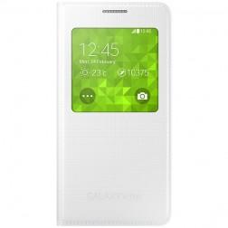 """""""Samsung"""" S View Cover atverčiamas dėklas - baltas (Galaxy Alpha)"""