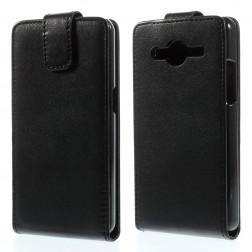 Klasikinis atverčiamas dėklas - juodas (Galaxy Core 2)