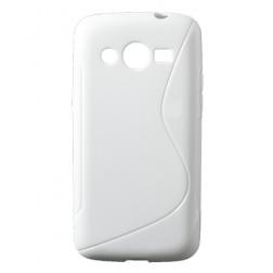 Kieto silikono dėklas - baltas (Galaxy Core LTE)