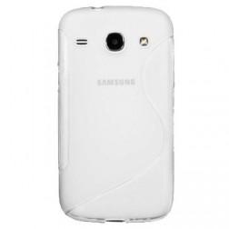 Kieto silikono dėklas - skaidrus (Galaxy Core LTE)