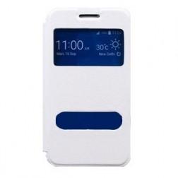 Atverčiamas dėklas su langeliu - baltas (Galaxy Core Prime)