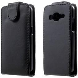 Klasikinis atverčiamas dėklas - juodas (Galaxy Core Prime)