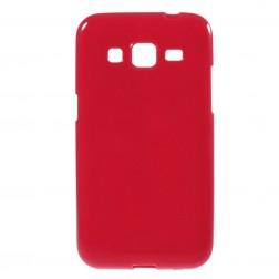 Kieto silikono (TPU) dėklas - raudonas (Galaxy Core Prime)