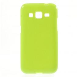 Kieto silikono (TPU) dėklas - žalias (Galaxy Core Prime)