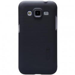 """""""Nillkin"""" Frosted Shield dėklas - juodas + apsauginė ekrano plėvelė (Galaxy Core Prime)"""