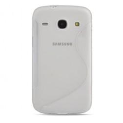 Kieto silikono dėklas - skaidrus (Galaxy Core)