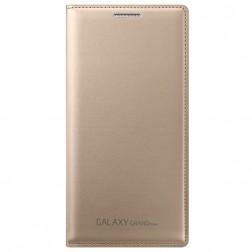"""""""Samsung"""" Flip Wallet Cover atverčiamas dėklas - auksinis (Galaxy Grand Prime)"""