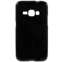 Kieto silikono (TPU) dėklas - juodas (Galaxy J1 2016)
