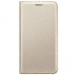"""""""Samsung"""" Flip Wallet Cover atverčiamas dėklas - auksinis (Galaxy J1 2016)"""
