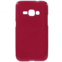 Kieto silikono (TPU) dėklas - raudonas (Galaxy J1 2016)