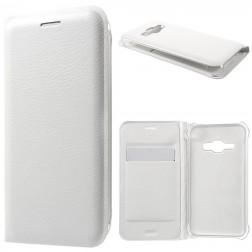 """""""Smart Wallet"""" atverčiamas dėklas - baltas (Galaxy J1 2016)"""
