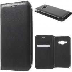 """""""Smart Wallet"""" atverčiamas dėklas - juodas (Galaxy J1 2016)"""
