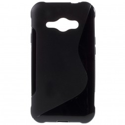 Silikoninis dėklas - juodas (Galaxy J1 Ace)