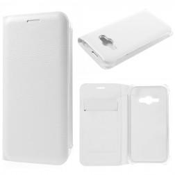 """""""Smart Wallet"""" atverčiamas dėklas - baltas (Galaxy J1 Ace)"""