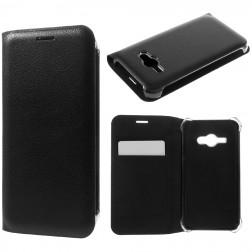 """""""Smart Wallet"""" atverčiamas dėklas - juodas (Galaxy J1 Ace)"""