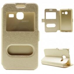 """""""Smart Window"""" atverčiamas dėklas - auksinis (Galaxy J1 mini)"""