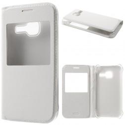 """""""Smart Window"""" atverčiamas dėklas - baltas (Galaxy J1 mini)"""