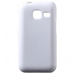 Kieto silikono (TPU) dėklas - baltas (Galaxy J1 mini)