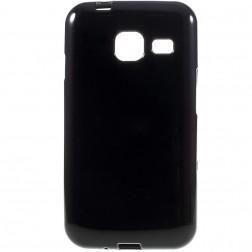 Kieto silikono (TPU) dėklas - juodas (Galaxy J1 mini)