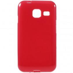 Kieto silikono (TPU) dėklas - raudonas (Galaxy J1 mini)